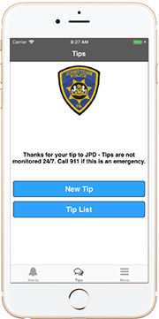 Johnstown PD tip411 app